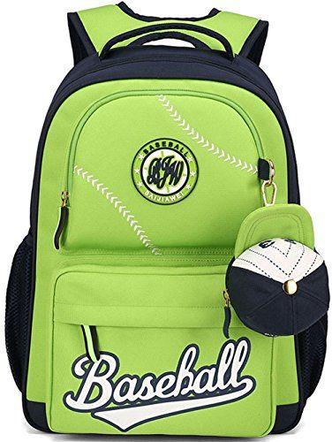 Boys Backpack Gazigo Children Kids Baseball Backpacks For School Boy Grade 3-5