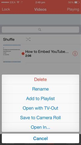 Download YouTube Videos Directly To Your iPhone Camera Roll