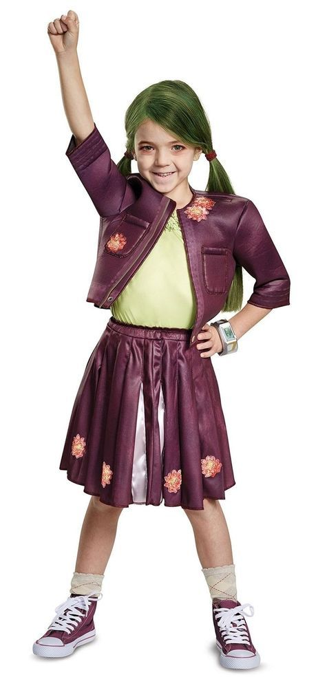 Girls Disney Zombies Zoey Zombie Cheer Outfit Costume