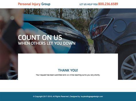 personal-injury-help-responsive-lander-007 | Personal Injury Landing Page Design preview.