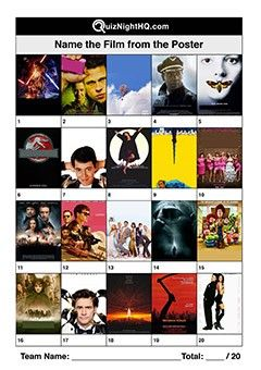 Film Posters 003 Movie Trivia Questions Film Quiz Movie Quizzes