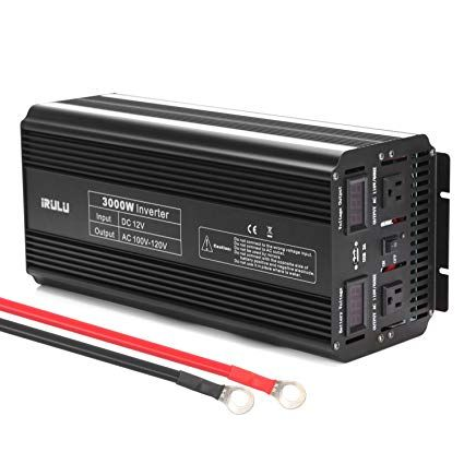 Irulu 3000w Microprocessor Power Inverter Dc 12v To 110v Ac Car Inverter With 2 Ac Outlets 2a Usb Car Adapter Black Car Usb Power Inverters Amazon Electronics