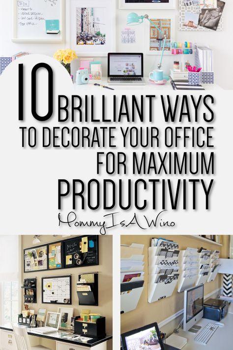 10 Creative Living Room Office Ideas Office Organization