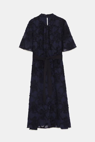 Image 8 De Robe En Jacquard A Franges De Zara Jacquard Robe Frange