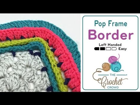 How To Crochet A Border Pop Frame Youtube Crochet Pinterest