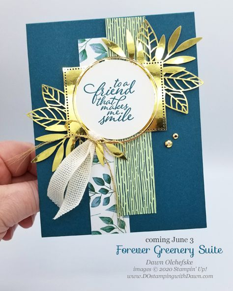 Stampin' Up! Forever Greenery Suite Sneak Peek card by Dawn Olchefske #dostamping #howdshedothat #stampinup #handmade #cardmaking #stamping #papercrafting  #YCC1067 #YourCreativeConnection