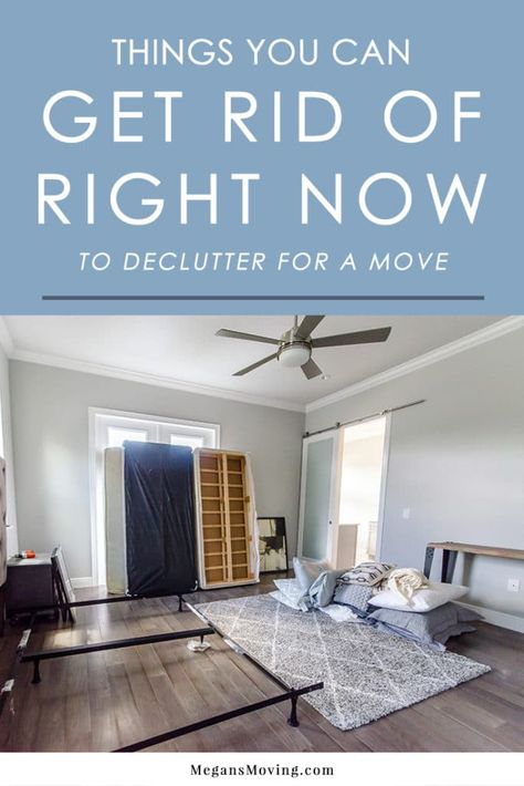 declutter Decluttering is the first step! Here's a list of things you can get rid of right away to save time and money when you start packing. Moving List, Moving House Tips, Moving Home, Moving Hacks, Unpacking After Moving, First Time Moving Out, Home Buying Tips, Home Selling Tips, Selling Your House