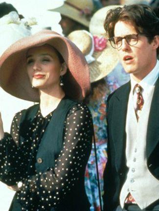 1994 Four Weddings And A Funeral Kristin Scott Thomas Hugh Grant Wedding Movies Kristin Scott Thomas Richard Curtis Films