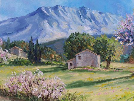 La Montagne St Victoire Annie Riviere Artiste Peintre Paysagiste