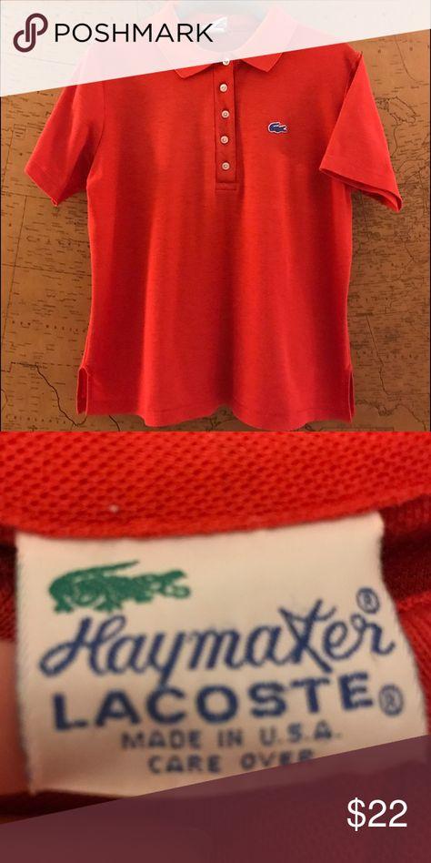 cheap super cute amazon Vintage Haymaker Lacoste Polo Shirt Short sleeve, patriotic ...