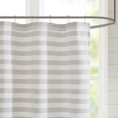 72 X72 Colette Yarn Dyed Woven Shower Curtain Gray Adult Unisex