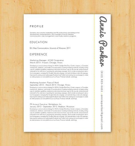 Very Simple Yet Eye Catching Resume Design Resume Writing