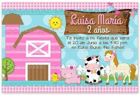 Invitacion Granja Cumpleaños Niña Niño Kit Imprimible