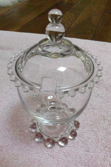 Imperial Glass Candlewick condiment jar