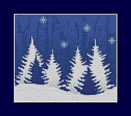 Christmas Tree  Mini Cross Stitch Kit by Luca  S B012