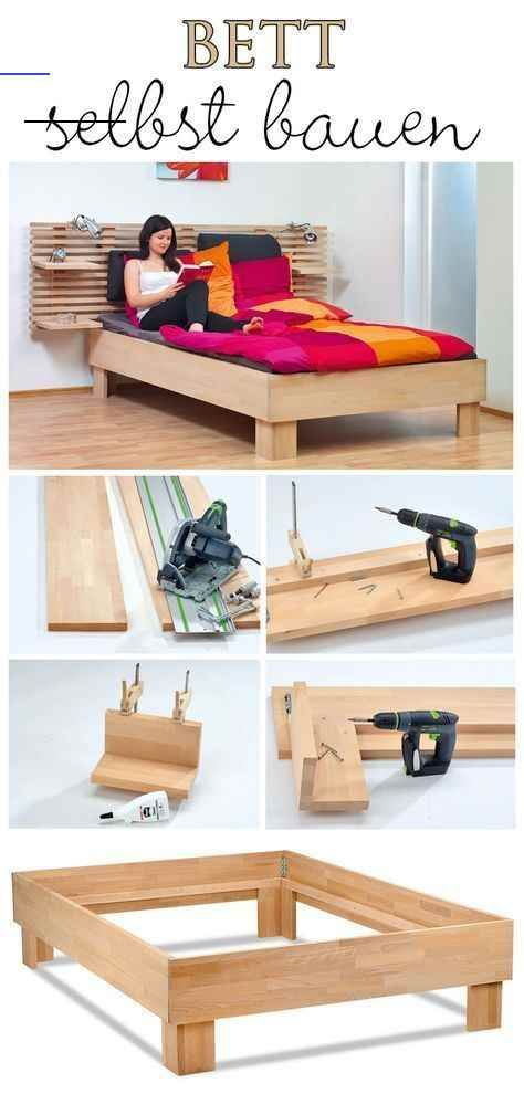 Bett Selber Bauen Selbst De Furnitureredos Diese Bauanleitung Zeigt Ihnen Schritt Fur Schritt Wie Sie Ein Bett In 2020 Diy Furniture Easy Diy Bed Frame Diy Bed