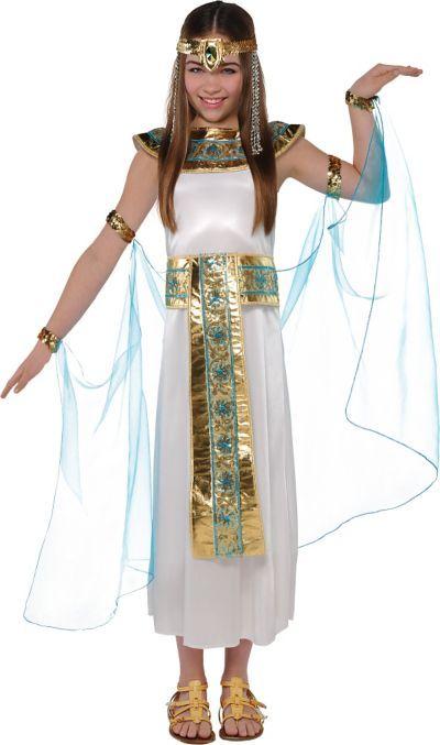 Girls Cleopatra Wig Egyptian Halloween Kids Fancy Dress Costume Hair NEW