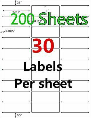 """1/"""" x 2/"""" Address Mailing Labels for Laser /& Ink jet Printer 6000 Labels"""