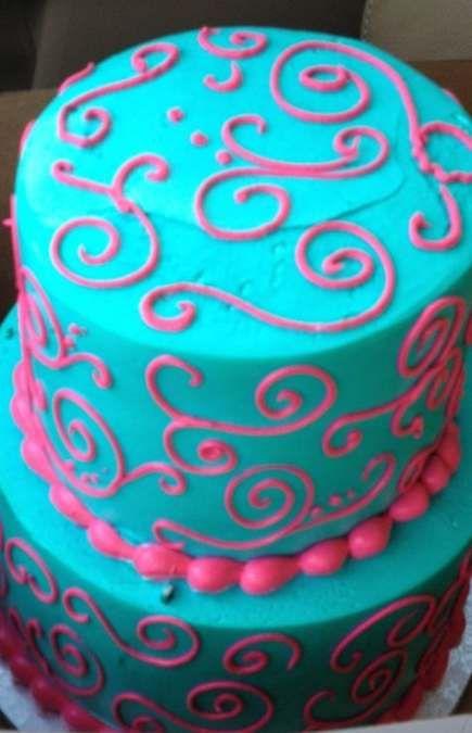 New Birthday Cake Blue Teal Pink Ideas cake birthday