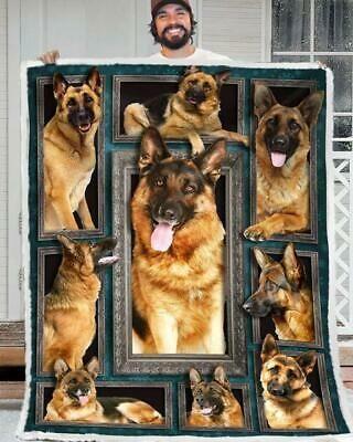 Advertisement German Shepherd 3d Picture Frames Version 2 60 102 Cotton Quilt 3 Sizes Dog Emotions Dog Biting Shepherd Dog