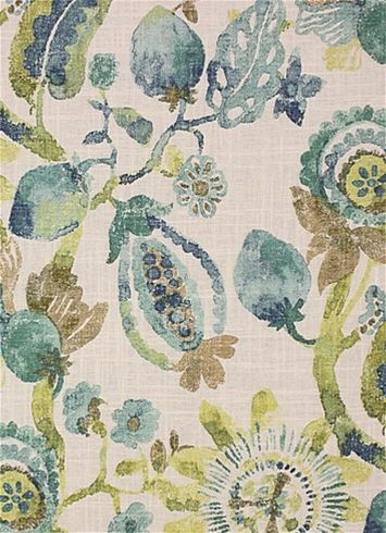 Anastasia Seaside Floral Fabric Floral Fabric Floral Upholstery