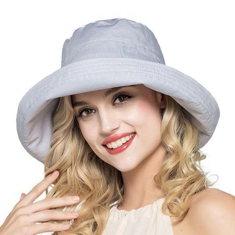Ladies Summer Cotton Linen Fashion Floppy Bucket Beach Hat 7 Colors ... 2036a11ae957