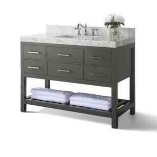 48 Inch Bathroom Vanities You Ll Love Wayfair Bathroom Vanity Double Vanity Bathroom Single Bathroom Vanity