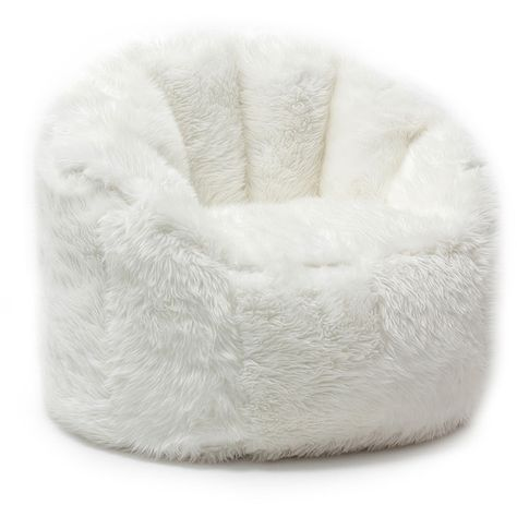 5e03274a14 Comfort Research BeanSack Big Joe Milano Faux Fur Bean Bag Chair ( 122) ❤  liked on Polyvore featuring home