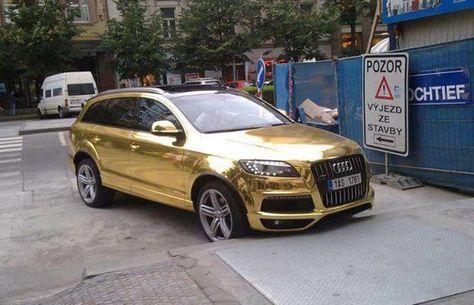 Gallery 25 Crazy Custom Gold Cars Audi Q7 Gold Car Audi