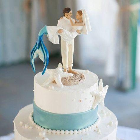 Mermaid wedding cake topper?!Um YES!                                                                                                                                                      More