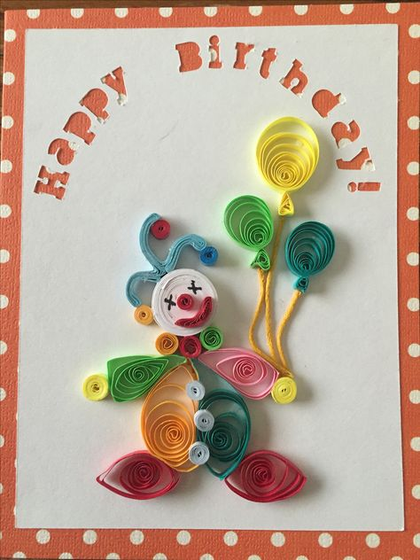 Quilled Clown. Inspired by other pins I've seen.
