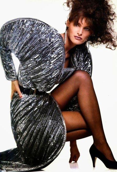 The Body of Italian Style Vogue UK, September 1983 Photographer: Albert Watson Model: Lynn Koester Krizia, Fall 1983