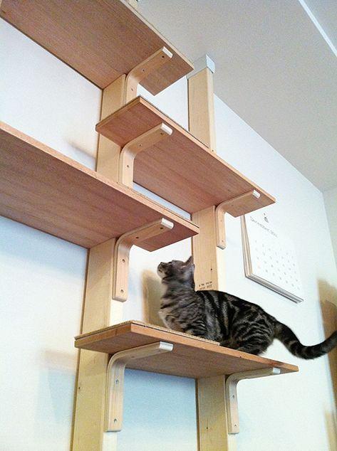 ディアウォール を使ったdiyがすごい Suvaco スバコ キャットタワー 猫の家具 猫タワー