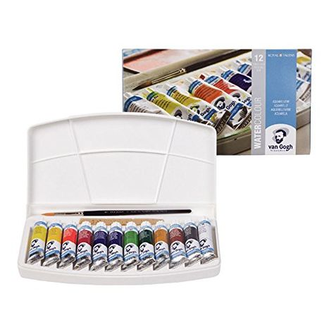 Talens Van Gogh Watercolor 10ml 12 Tube Pocket Box Set Van Gogh Watercolor Van Gogh Gogh