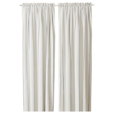 Lenda Curtains With Tie Backs 1 Pair Bleached White 55x98