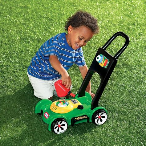 Little Tikes Gas 'n Go Mower Green And Black   Little