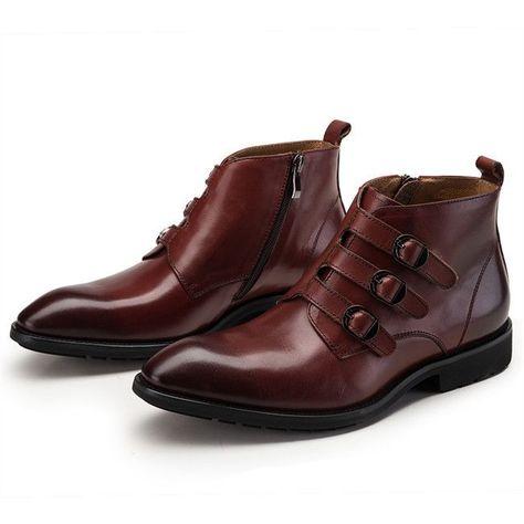 Brown Shoes buckles bootsAll ankle Fashion three GqjLMVUSzp