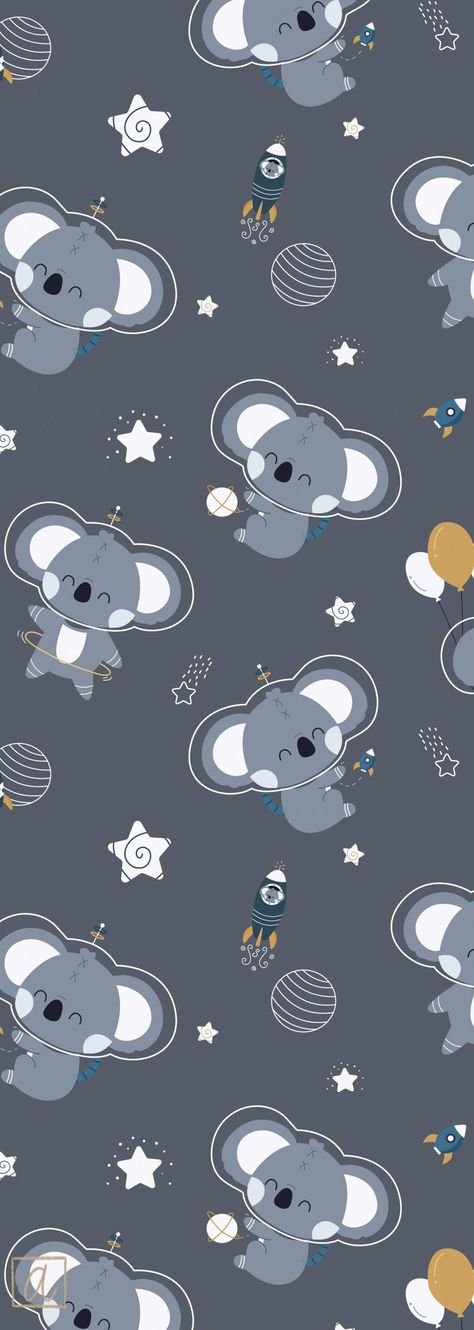 Hello universe grey textile design for children#children #design #grey #textile #universe