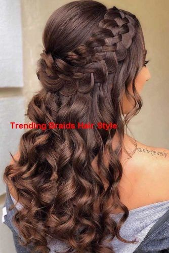 Cute Homecoming Hairstyles Hairstyles Homecoming Hairstylestraighthomecoming Braids With Curls Homecoming Hairstyles Braided Hairstyles