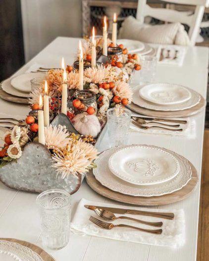 50++ Farmhouse thanksgiving table decor ideas in 2021