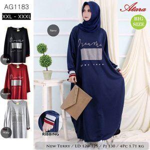 Gamis Jumbo Xxxl Ag1183 Grosir Baju Muslim Termurah Baju Muslim Wanita Warna