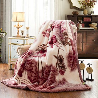 Thick Soft Warm 2 Ply Double Sided Bed Throw Fleece Blanket Heavy Mink King Size