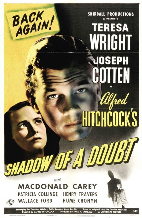 Shadow of a Doubt. Podcast discussion of this film is here: http://ayearofhitchcock.com/podcasts/AYoHitchcockEp27ShadowofaDoubt.mp3