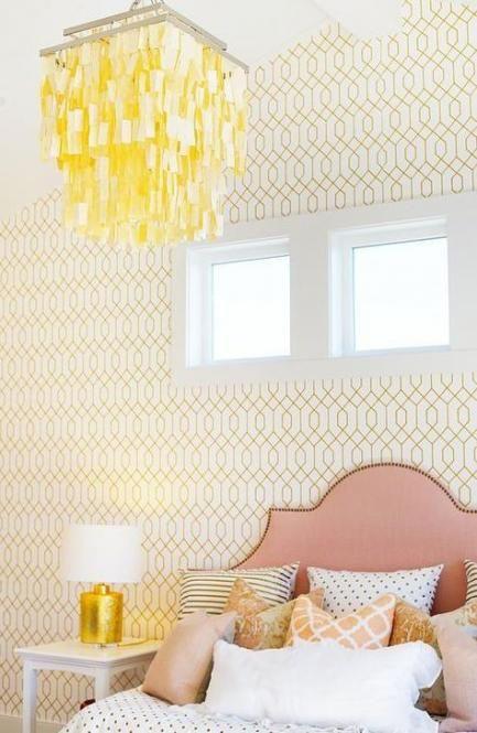 43 Ideas Bedroom Wallpaper Yellow Beds In 2020 Bedroom Wallpaper White Bedroom Wallpaper Yellow Feature Wall Bedroom