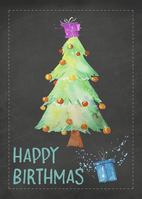 Happy Birthmas Birthday On Christmas Christmas Birthday Card Ad Spon Birthmas Happy Birt Christmas Birthday Cards Christmas Birthday Birthday Cards