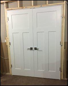 Double Door Installation Double Closet Doors Double Doors