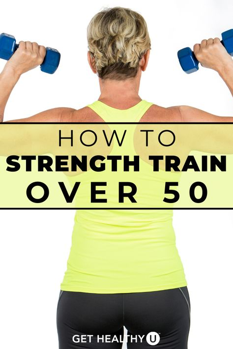 The secret to antiaging magic Strength training. Here are 11 strength training moves women over 50 should do to stay strong young and healthy. Fitness Video, Body Fitness, Fitness Tips, Health Fitness, Fitness Gear, Daily Exercise Routines, Fitness Routines, At Home Workouts, Body Workouts