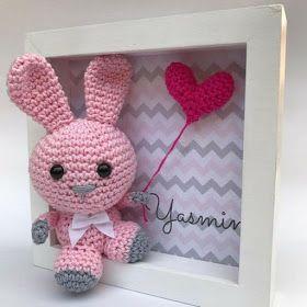 Luty Artes Crochet: Quadros de amigurumi para quarto infantil ... | 280x280