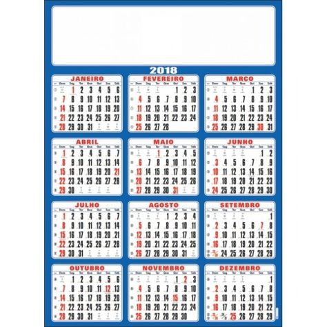 Calendario 2018 Brasil.Pinterest