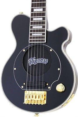 New Pignose Black Gold Deluxe Mini Electric Guitar W Built In Amp Amplifier Electric Guitar Guitar Bass Guitar